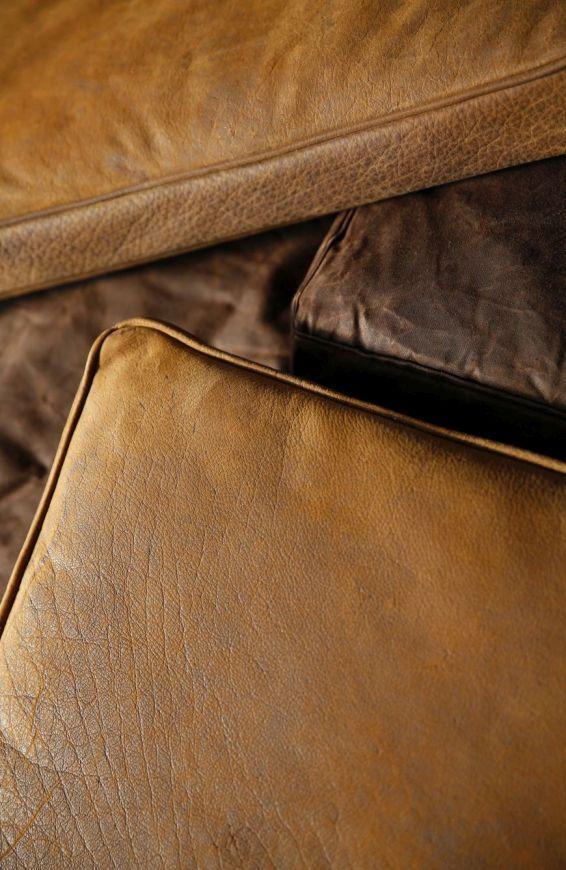 Armchair CARGO II canvas waxed leather leder cuir basics